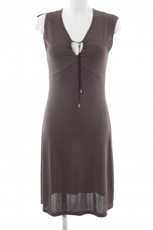 Tom Tailor A-Linien Kleid braun Casual-Look