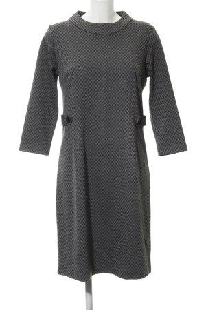 Tom Tailor A-Linien Kleid schwarz-grau Webmuster Business-Look