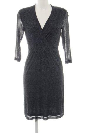Tom Tailor A-Linien Kleid schwarz-petrol Casual-Look