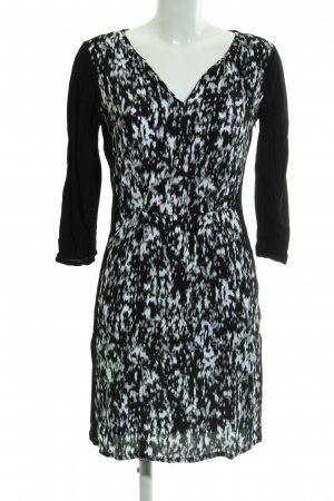 Tom Tailor A-Linien Kleid schwarz-weiß Animalmuster Animal-Look