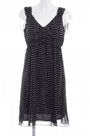 Tom Tailor A-Linien Kleid schwarz-weiß Punktemuster Casual-Look