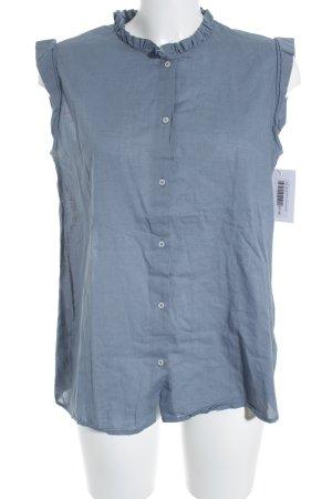 Tom Tailor ärmellose Bluse graublau schlichter Stil