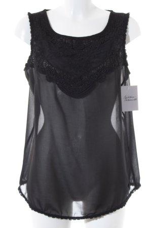 Tom Tailor ärmellose Bluse schwarz Elegant