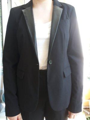Tom Tailor Anzug mit Lederrevers