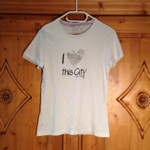 TOM TAILOR Basic Shirt mit Druck in S