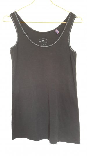 Tom Tailor Basic Tanktop schwarz Gr. S