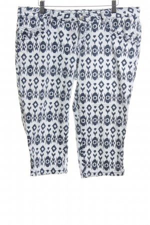 Tom Tailor Bermudas white-blue allover print casual look