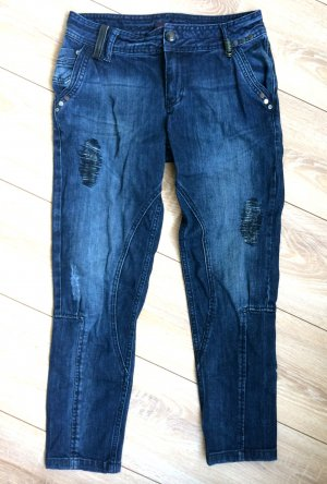TOM TAILOR - Biker Jeans mit Flicken. Größe 27-30