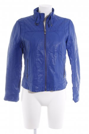 Tom Tailor Bikerjacke blau Casual-Look