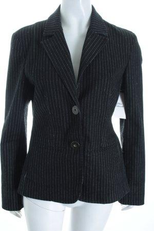 Tom Tailor Blazer dunkelblau-wollweiß Nadelstreifen Casual-Look