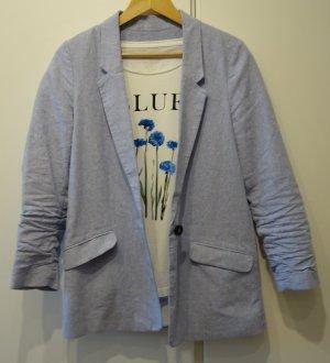 Tom Tailor Blazer Jacke Cotton & Linen Gr.38 himmelblau + T-Shirt