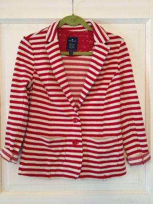 Tom Tailor Blazer rot / weiß Streifen Gr. M