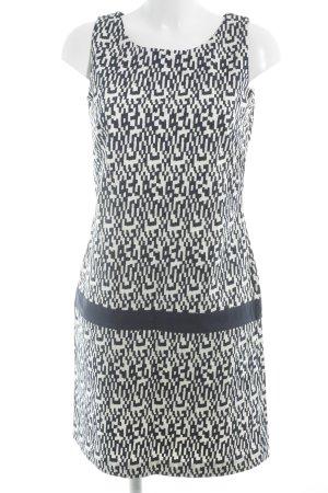 Tom Tailor Bleistiftkleid wollweiß-dunkelblau abstraktes Muster Business-Look