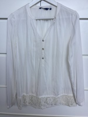 Tom Tailor Blusa in merletto bianco