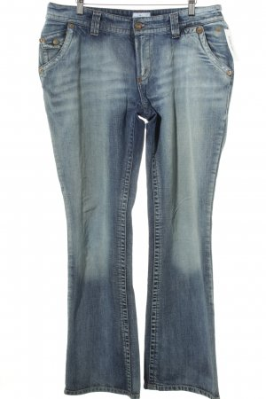 Tom Tailor Boot Cut Jeans blau Used-Optik