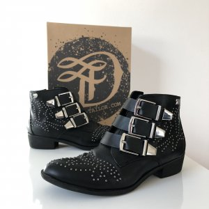 Tom Tailor Denim Botines Chelsea negro-color plata