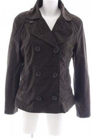 Tom Tailor Cabanjacke dunkelbraun Casual-Look