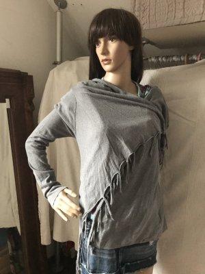 Tom Tailor Cape, Poncho in einem wunderschönen Grau, Feinstrick