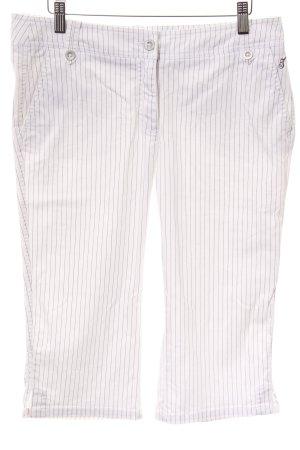 Tom Tailor Pantalón capri blanco-gris oscuro raya diplomática estilo sencillo
