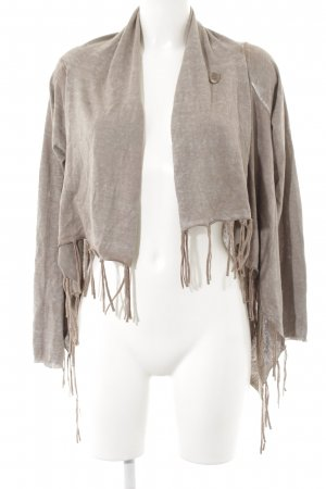 Tom Tailor Cardigan beige-braun meliert Hippie-Look