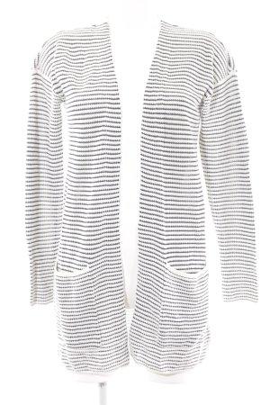 Tom Tailor Cardigan weiß-dunkelblau Streifenmuster Casual-Look