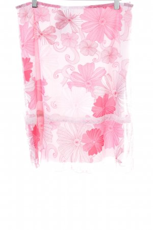 Tom Tailor Crash Skirt pink flower pattern casual look