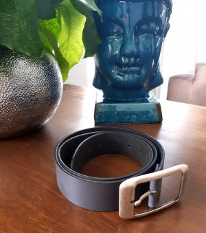 Tom Tailor Leather Belt grey leather