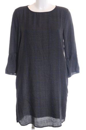 Tom Tailor Denim A-Linien Kleid schwarz-blau Allover-Druck Casual-Look