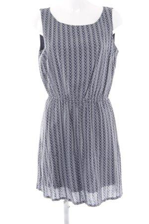 Tom Tailor Denim A-Linien Kleid dunkelblau Ethnomuster Casual-Look