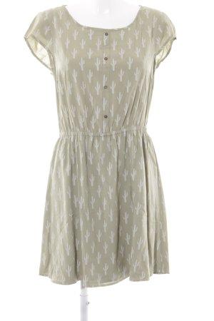 Tom Tailor Denim A-Linien Kleid hellgrün florales Muster Casual-Look
