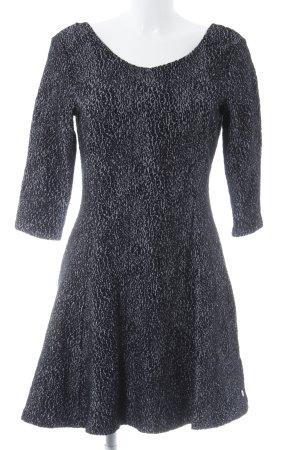 Tom Tailor Denim A-Linien Kleid schwarz-grau Leomuster Casual-Look