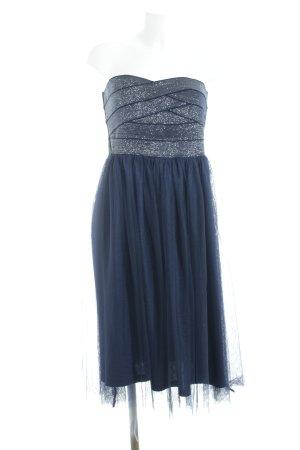 Tom Tailor Denim Abendkleid dunkelblau-silberfarben Elegant