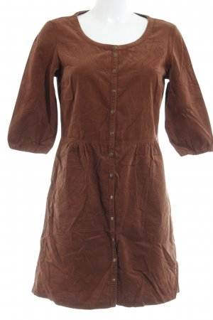 Tom Tailor Denim Babydoll Dress cognac-coloured casual look