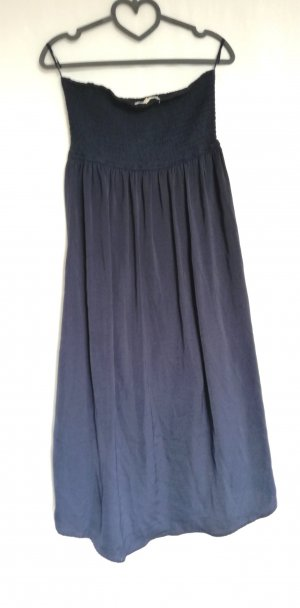 Tom Tailor Denim Bandeau Dress dark blue