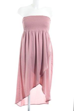 Tom Tailor Denim Bandeau Dress pink romantic style