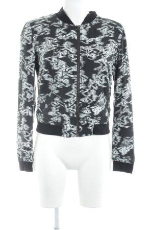 Tom Tailor Denim Blouson schwarz-weiß abstraktes Muster schlichter Stil