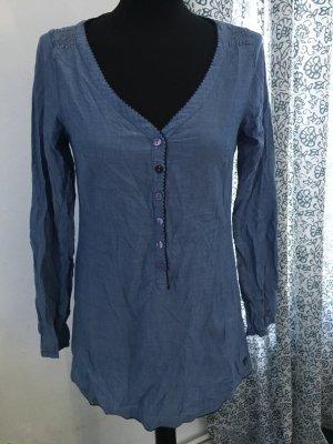 Tom Tailor Denim Slip-over blouse korenblauw