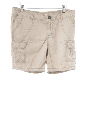 Tom Tailor Denim Pantalone cargo beige motivo trapuntato stile classico