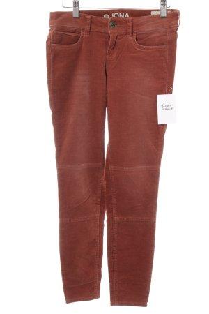 Tom Tailor Denim Pantalone di velluto a coste ruggine stile casual