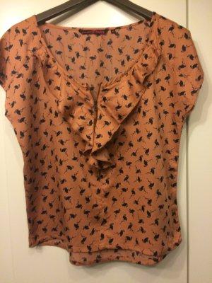 TOM TAILOR Denim Damen Top/ Bluse flamingo blouse Beige