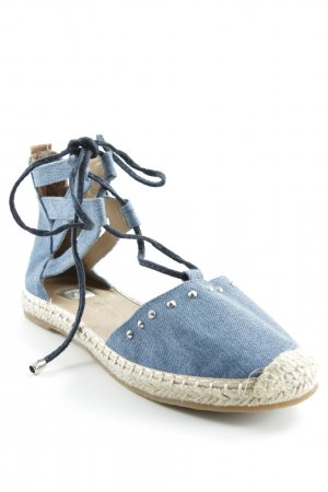 Tom Tailor Denim Espadrilles-Sandalen creme-kornblumenblau Beach-Look