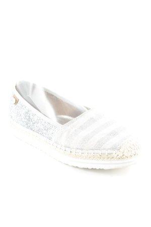 Tom Tailor Denim Espadrille sandalen zilver-licht beige gestreept patroon