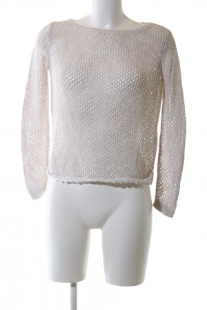 Tom Tailor Denim Crochet Sweater natural white casual look