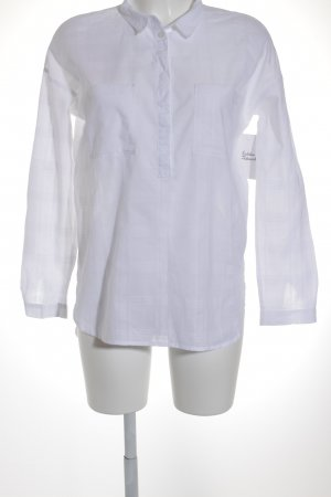 Tom Tailor Denim Hemd-Bluse weiß Streifenmuster klassischer Stil