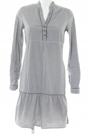 Tom Tailor Denim Shirtwaist dress black-white Vichy check pattern casual look