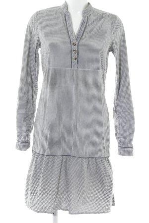 Tom Tailor Denim Hemdblusenkleid schwarz-weiß Vichykaromuster Casual-Look