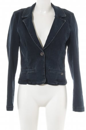 Tom Tailor Denim Denim Blazer dark blue-pale blue casual look