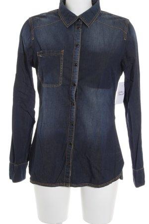Tom Tailor Denim Jeanshemd dunkelblau Street-Fashion-Look