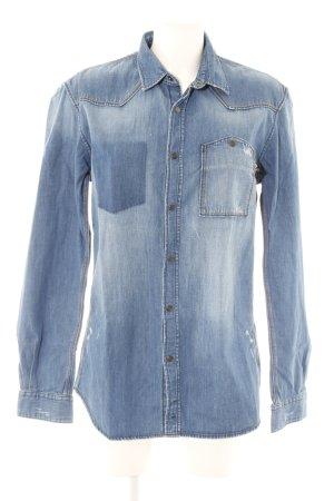 Tom Tailor Denim Camicia denim blu acciaio-azzurro stile casual
