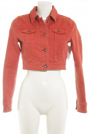 Tom Tailor Denim Jeansjacke rot Casual-Look